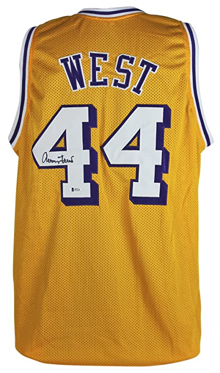 d866ca897 Image Unavailable. Image not available for. Color  Lakers Jerry West  Authentic Signed Yellow Mesh Jersey ...
