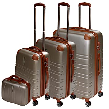 XCASE Ensemble de 4 valises trolley