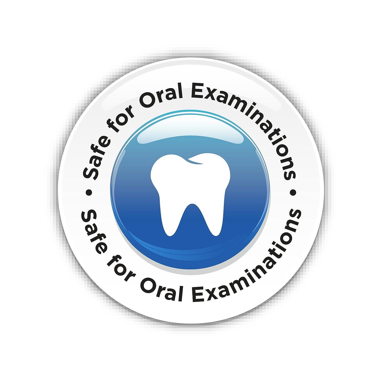 Extra Small Scatola da 100 Guanti per esplorazione dentale in nitrile blu MICRO-TOUCH DENTA-GLOVE