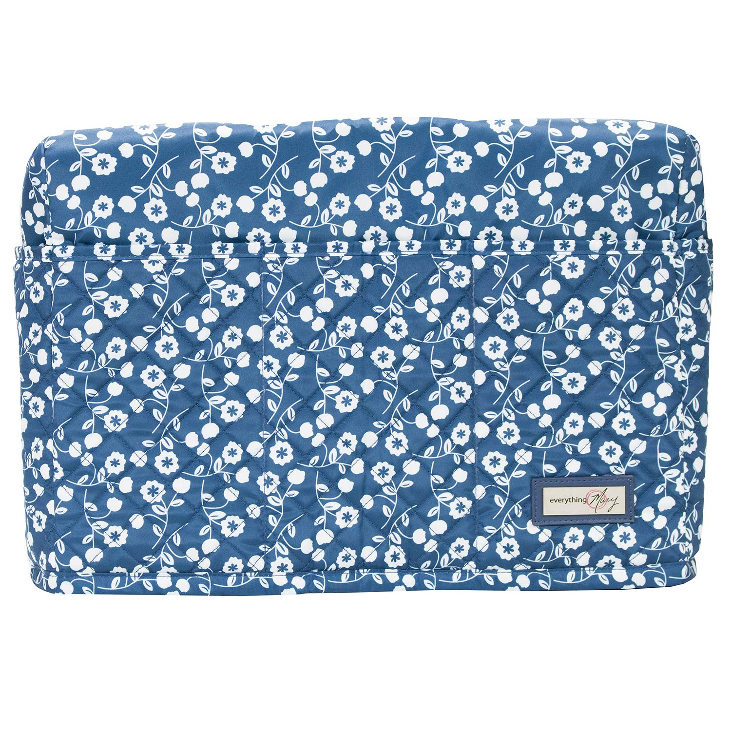 Collapsible with Storage Pocket Dust Cover Protector That Fits Most Standard Brother /& Singer Machines Everything Mary Grey Quilted Sewing Machine Cover