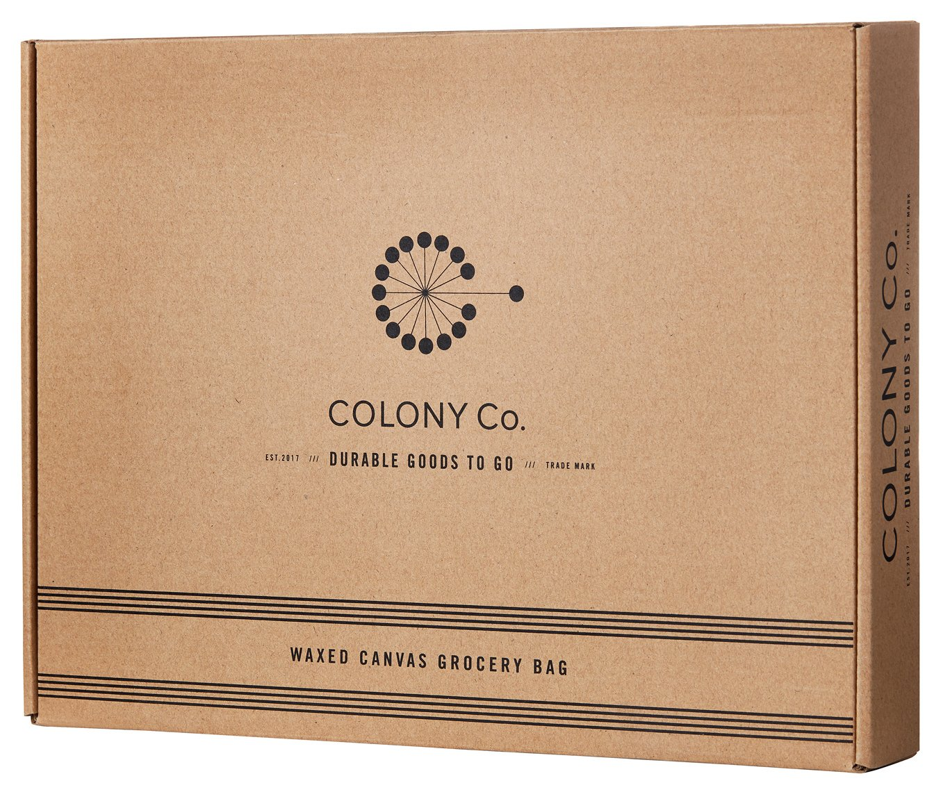Reusable Grocery Bag | Waxed Canvas | Heavy-Duty | Biodegradable | Foldable | Brown by COLONY CO (Image #4)