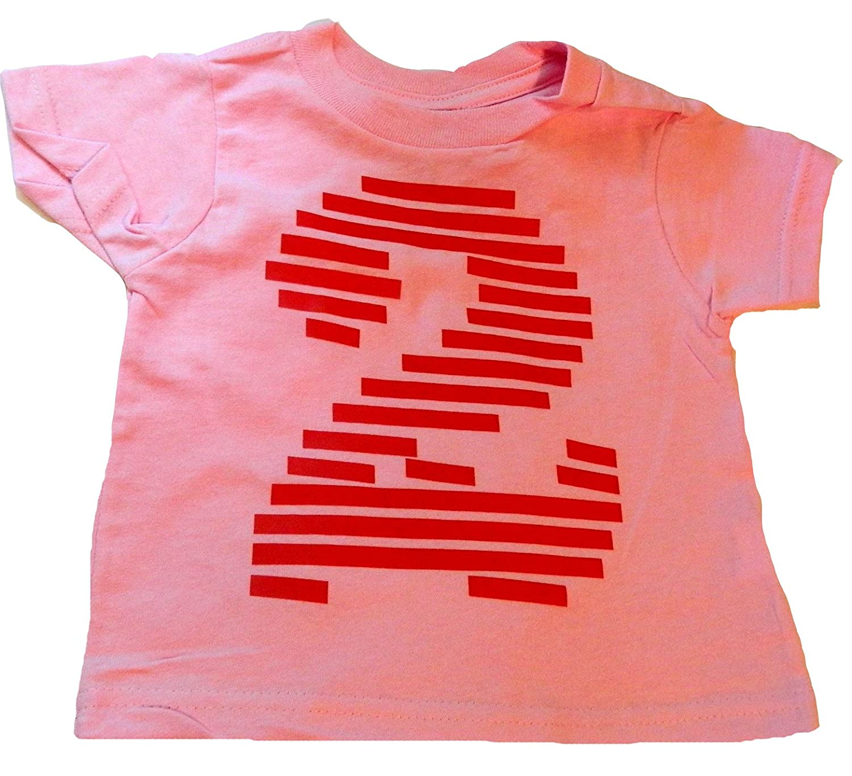 Amazon Custom Kingdom Baby Girls 2 Number Two Striped Second Birthday T Shirt Clothing