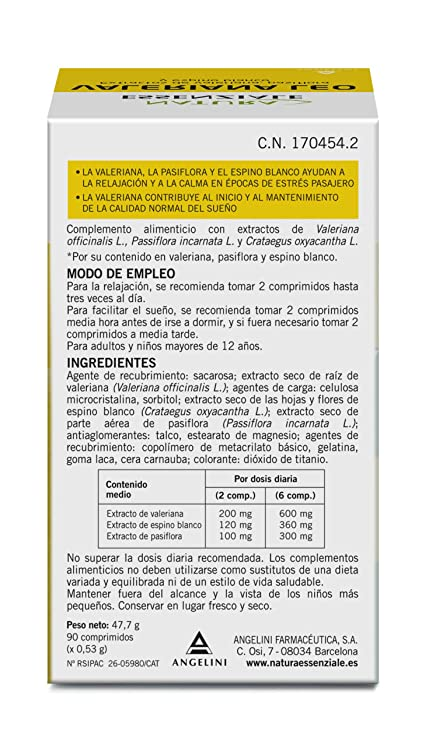VALERIANA LEO ANGELINI 90 COMPRIMIDOS: Amazon.es: Salud y cuidado personal