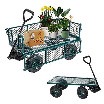 Amazon.com: LuckyerMore - Carro de metal para jardín ...