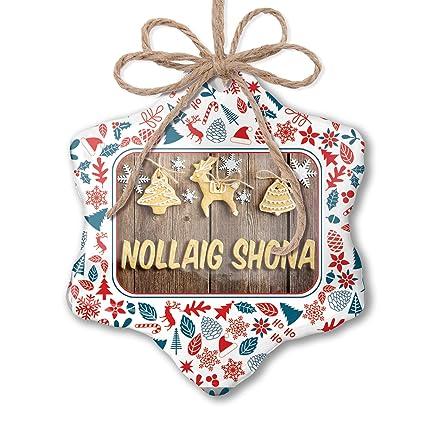 Merry Christmas In Irish.Amazon Com Neonblond Christmas Ornament Merry Christmas In
