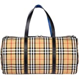 Boutique Busy Bee Red Plaid Canvas Getaway Weekender Bag B