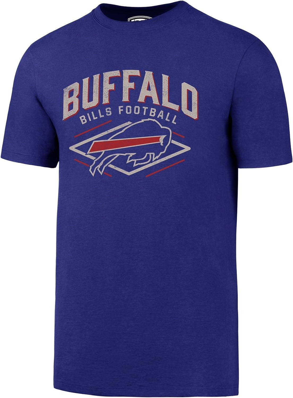 47 Brand OTS NFL Buffalo Bills Mens Rival Tee Small Distressed Bar Nunn