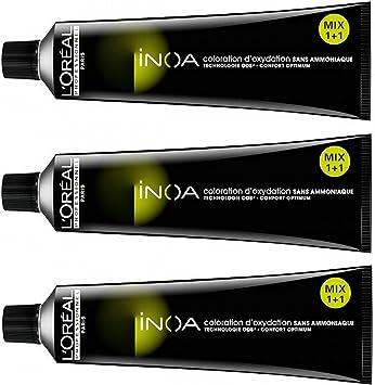 Loreal Inoa nº 8 rubio claro 3x60 tinte sin amoniaco