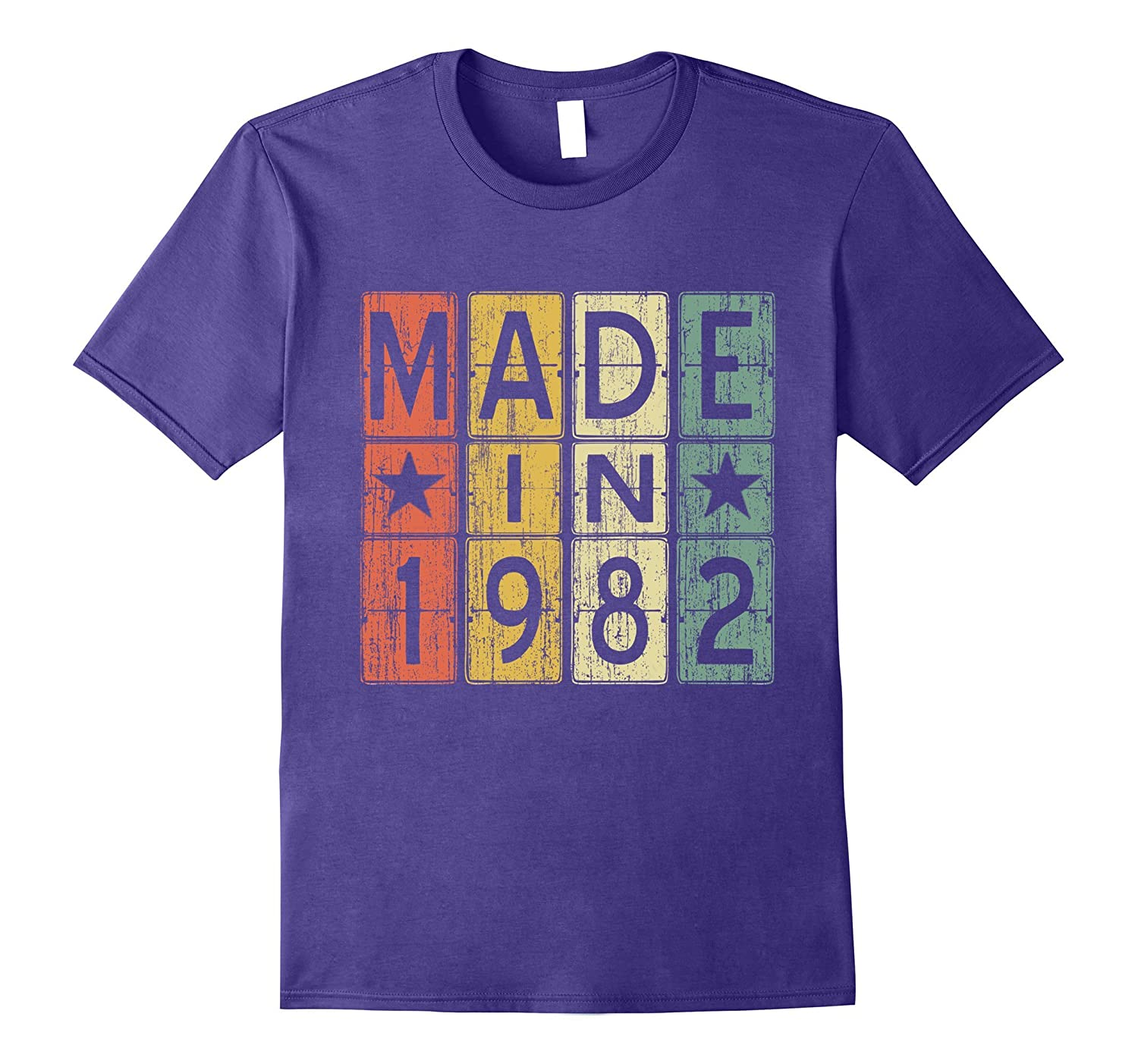 35th Birthday Gift Vintage 1982 T-Shirt Made in Men & Women-4LVS
