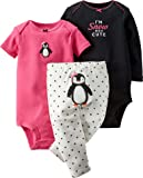Carter's Baby Girls' 3-Piece Turn-Me-Around Pant Set-Penguin Dot