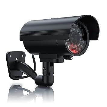 Brandson - Cámara Falsa de vigilancia | Cámara de Seguridad ficticia | Cámara de videovigilancia Falsa | Pantalla LED | Diseño Original | Led Rojo ...