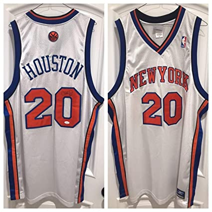 on sale 68ce0 84162 Allan Houston Autographed Signed Knicks Authentic Jersey ...