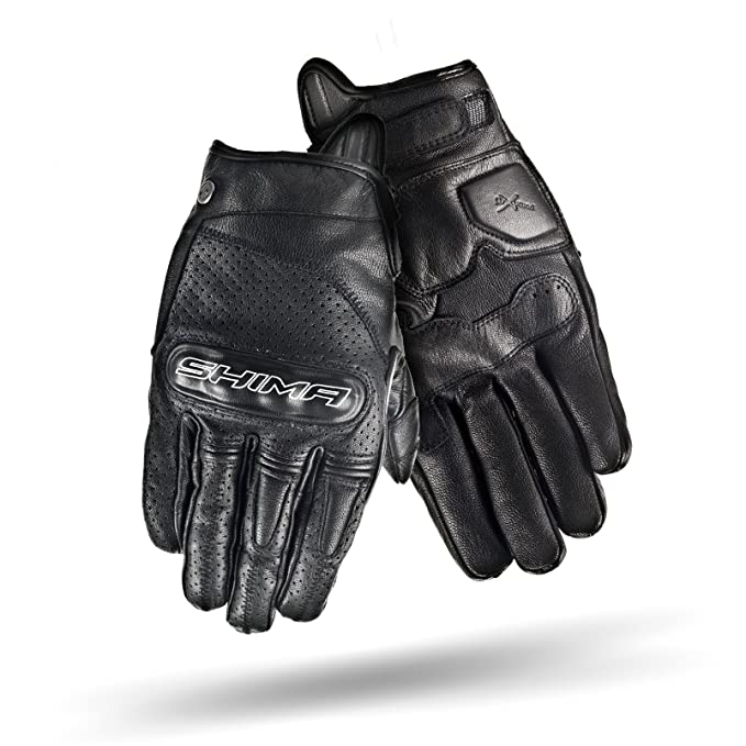 Heritage Retro Vintage Classic Summer Motorcycle Gloves SHIMA CALIBER WHITE