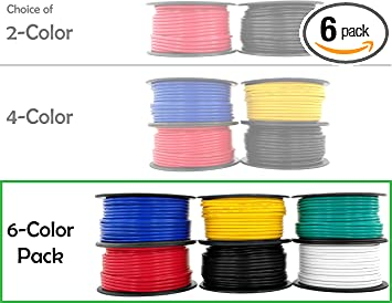 for 12V Automotive Trailer Light Car Audio Stereo Harness Wiring Also in 4 or 6 Color Combo 200 feet Total 12 Gauge Copper Clad Aluminum Low Voltage Primary Wire 100 ft Red /& Black