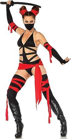 Leg Avenue- Mujer, Color Negro, Rojo, XS (EUR 32-34) (86693 ...
