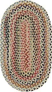 """product image for Capel St. Johnsbury Wheat 11' 4"""" x 14' 4"""" Oval Braided Rug"""