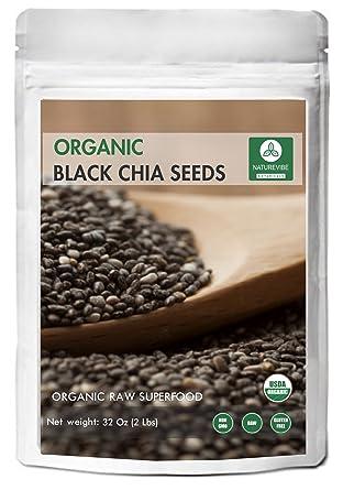 Semillas orgánicas de chia negra (2lb) de Naturevibe ...