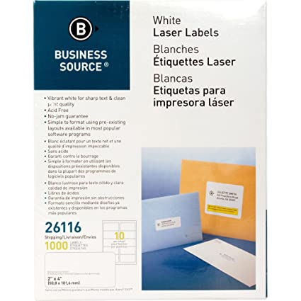 amazon com business source 26116 mailing labels shipping laser