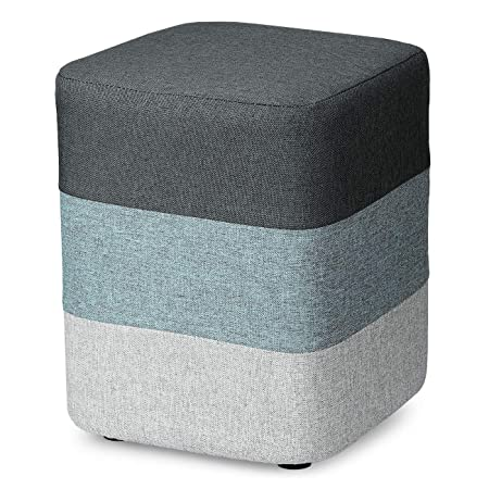 COQOFA DIY Soft Ottoman Foot Rest Stool Square Sofa Stool Modern Furniture with Washable Cover and Memory Foam