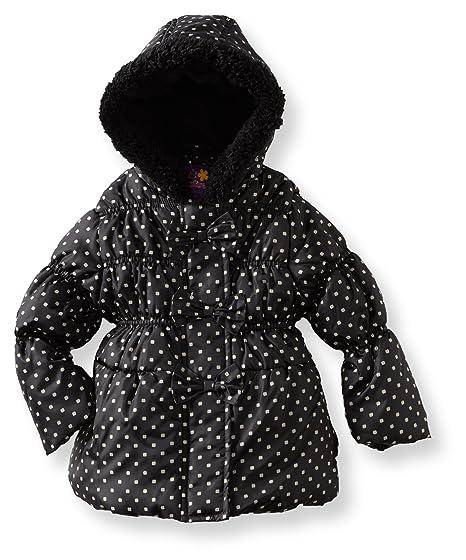 86fc1b209 Amazon.com  Pink Platinum Big Girls  Square Dot Puffer Jacket  Down ...