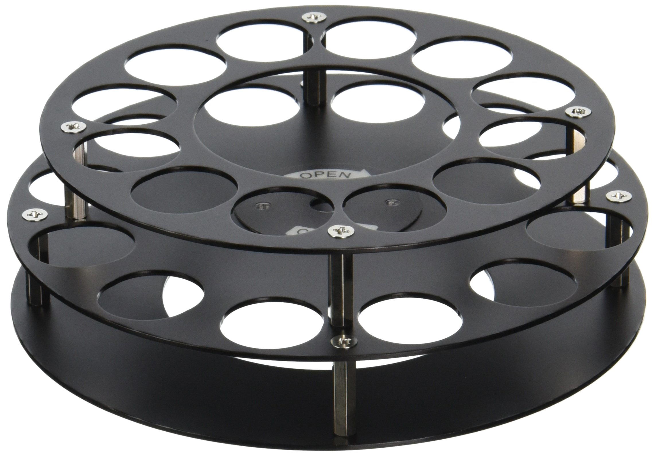Labconco 7548700 PTFE-Coated Aluminum Vials Fixed-Angle Rotor, Holds 12 x 15ml Vials, 20mm Dia. x 70mm Tall
