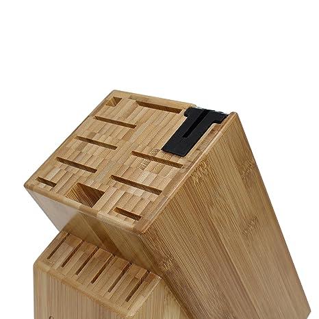 Amazon.com: 16 ranuras de bambú universal bloque de ...