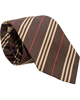 88ba3f6a8af9 Burberry London Mens Necktie Classic Diagonal Stripe Pattern Wide ...
