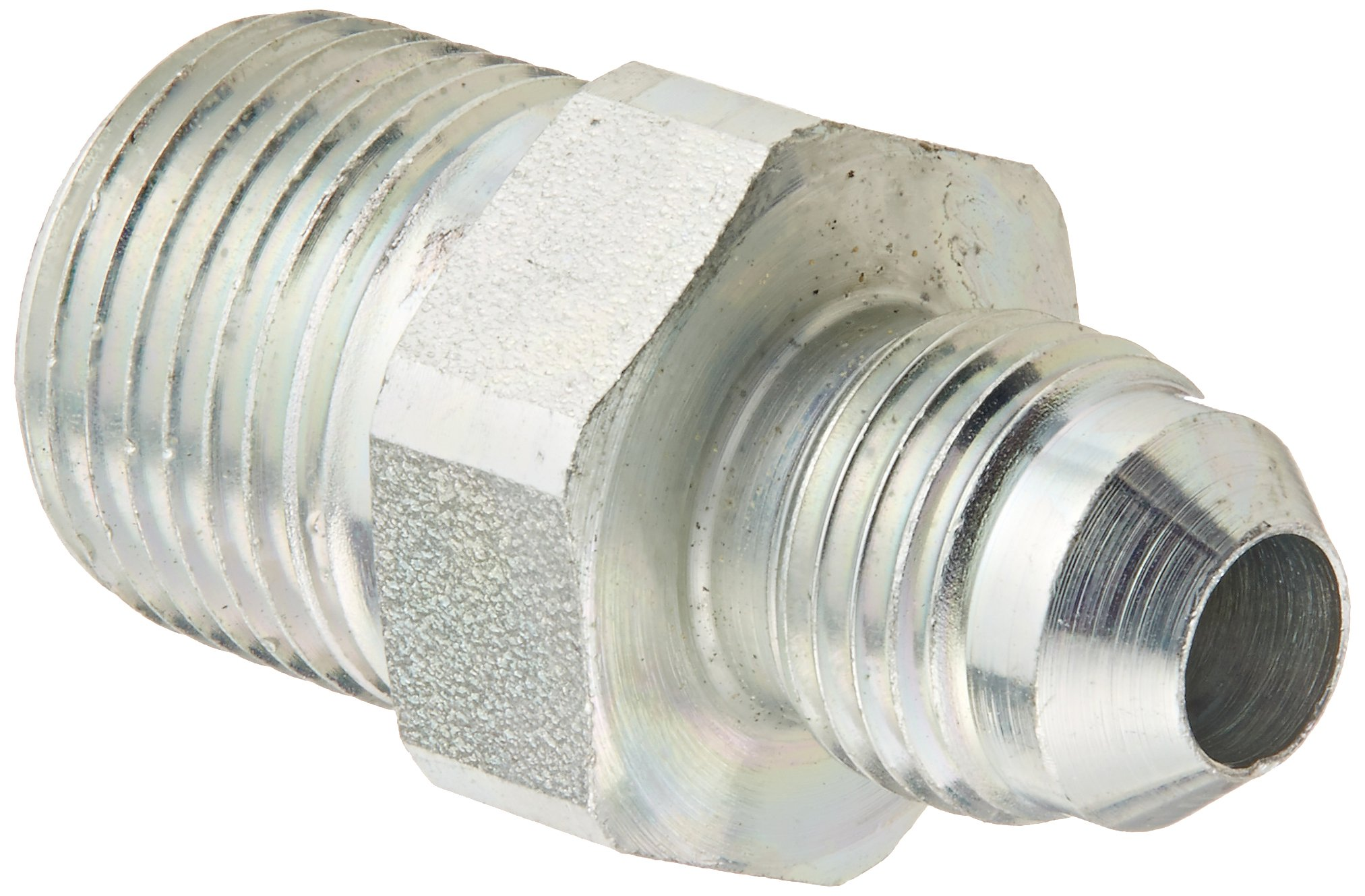 Eaton Weatherhead C5205X6X6 Carbon Steel SAE 37 Degree (JIC) Flare-Twin Fitting, Adapter, 3/8'' NPT Male x 3/8'' JIC Male (Pack of 4) by Weatherhead