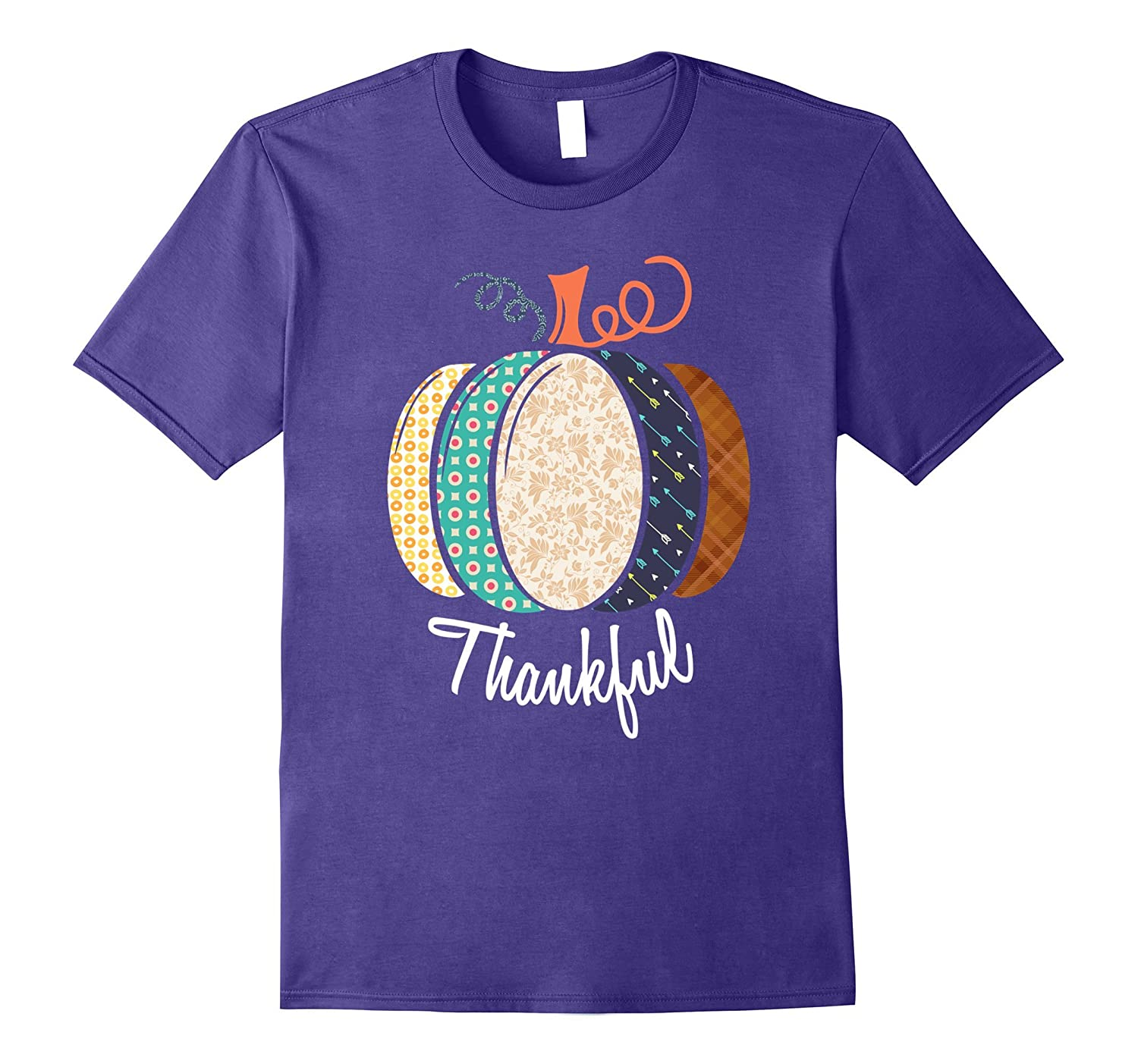 Thankful Pumpkin Fall T-Shirt - Perfect For Thanksgiving-ANZ