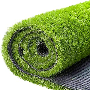Artificial Grass Fake Grass Turf Lawn 3.3 X 5 FT (16.5 Square FT), Ohuhu CPSIA Certified Realistic Synthetic Garden Turf Mat Grass Rug with Drain Holes, Indoor Outdoor Carpet Pet Dogs Pee Pads Area