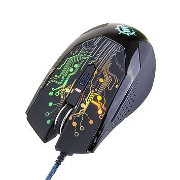 Ratón Gaming Láser por ENHANCE | Mouse Ergonómico para Gaming de Alta Precisión 3500 DPI ¡