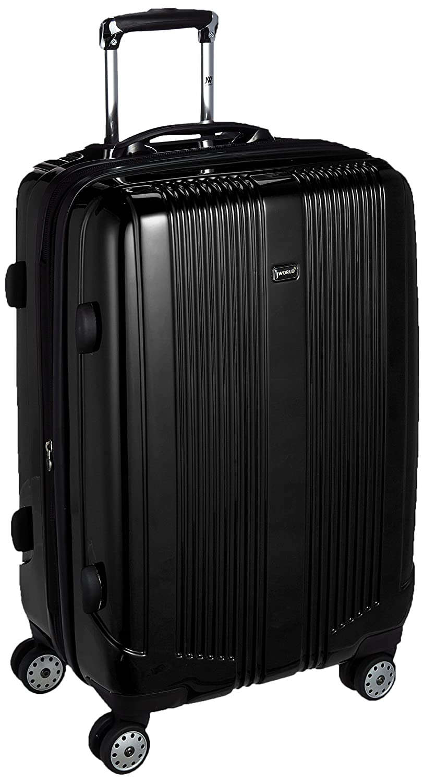 [ジェイワールド] スーツケース キャリーケース CONCORD 24 軽量 丈夫 頑丈 ポリカーボネートダブルキャスター 静音 61cm 4.92kg CONCORD24  ブラック B06WD1857B