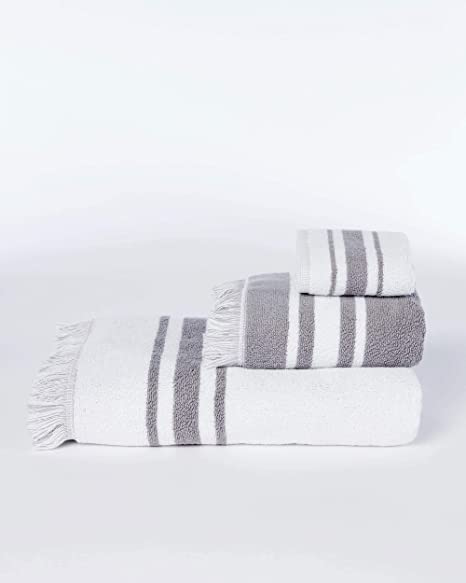 Absorbent Clean Thicker Striped Soft Cotton Towel Bathroom Bath Face Towels LIN
