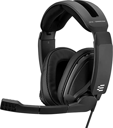 Amazon Com Epos Sennheiser Gsp 302 Gaming Headset With Noise Cancelling Mic Flip To Mute Comfortable Memory Foam Ear Pads Headphones For Pc Mac Xbox One Ps4 Nintendo Switch And Smartphone Compatible Computers Accessories