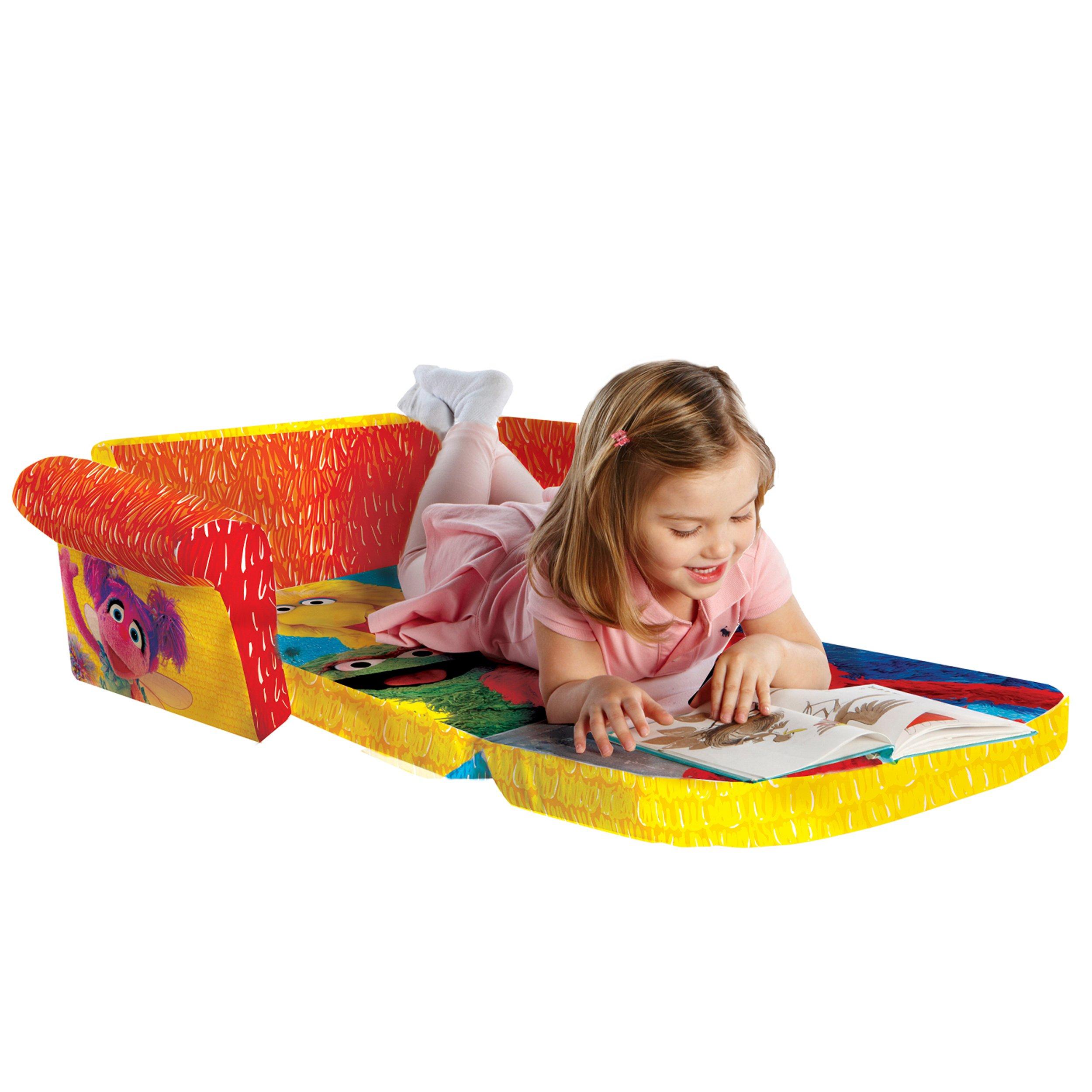 Marshmallow Furniture, Children's 2 in 1 Flip Open Foam Sofa, Sesame Street's Elmo/Sesame, by Spin Master by Marshmallow Furniture (Image #5)