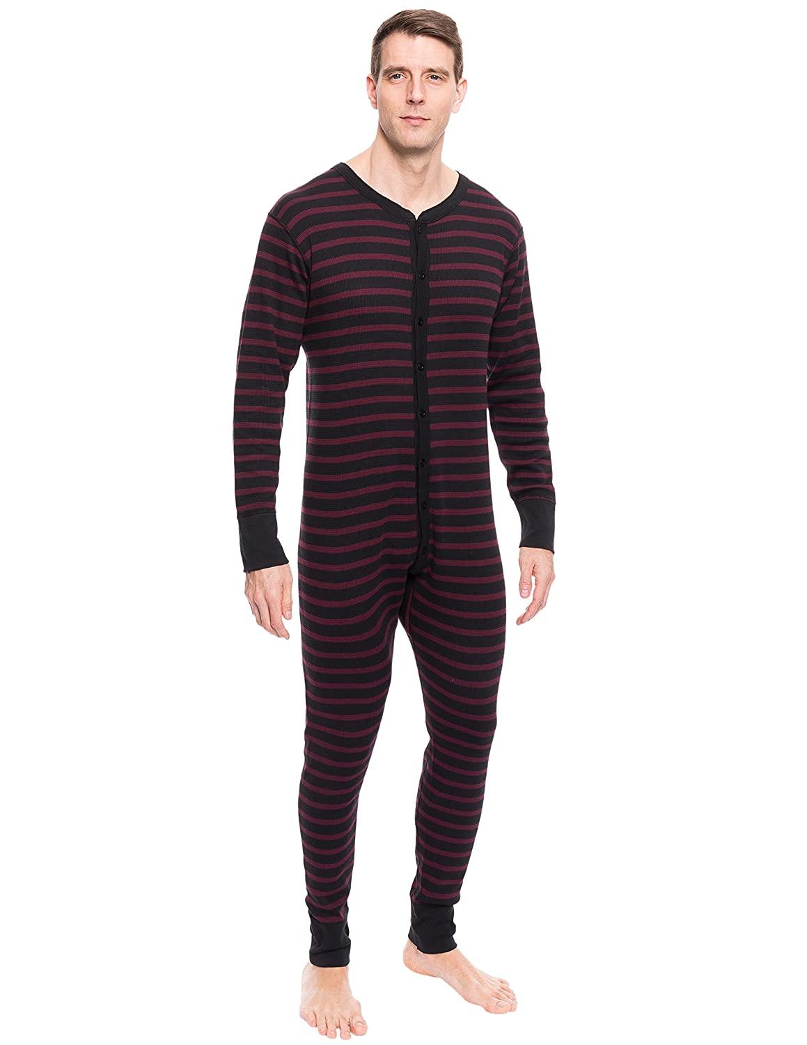 Noble Mount Mens Waffle Knit Thermal Union Suit nmt_mn_us_wfl