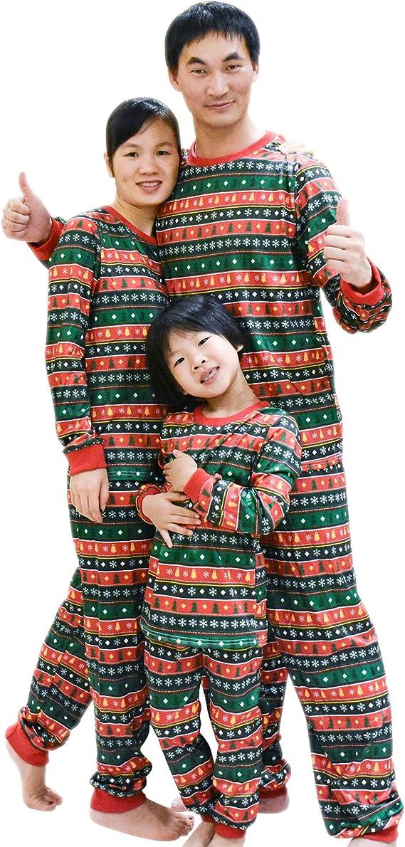 Mum Elf Dad Elf Piccolo Elfo w19 Grande Elfo Pigiama Elfo Natale Famiglia PJs