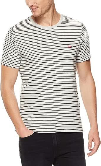 Levi's Men's Ss Classic Hm Tee Walk T-Shirts, Gray Violet/Black