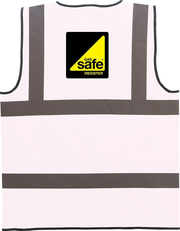 Gas Safe Hi Vis Viz High Visibility Vest Safety Waistcoat Gas Engineers