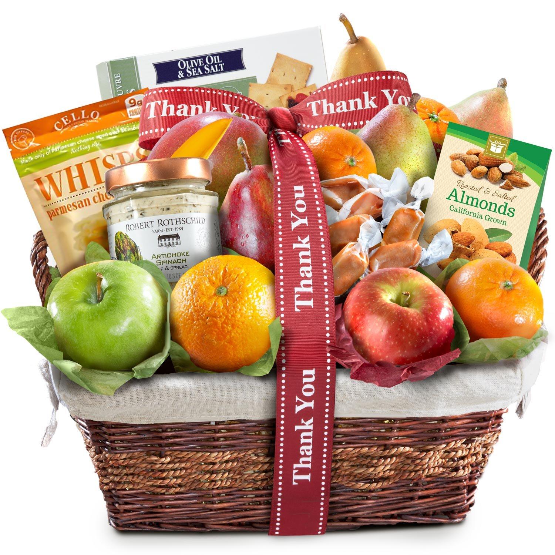 Thank You Deluxe Gourmet Fruit Basket Gift