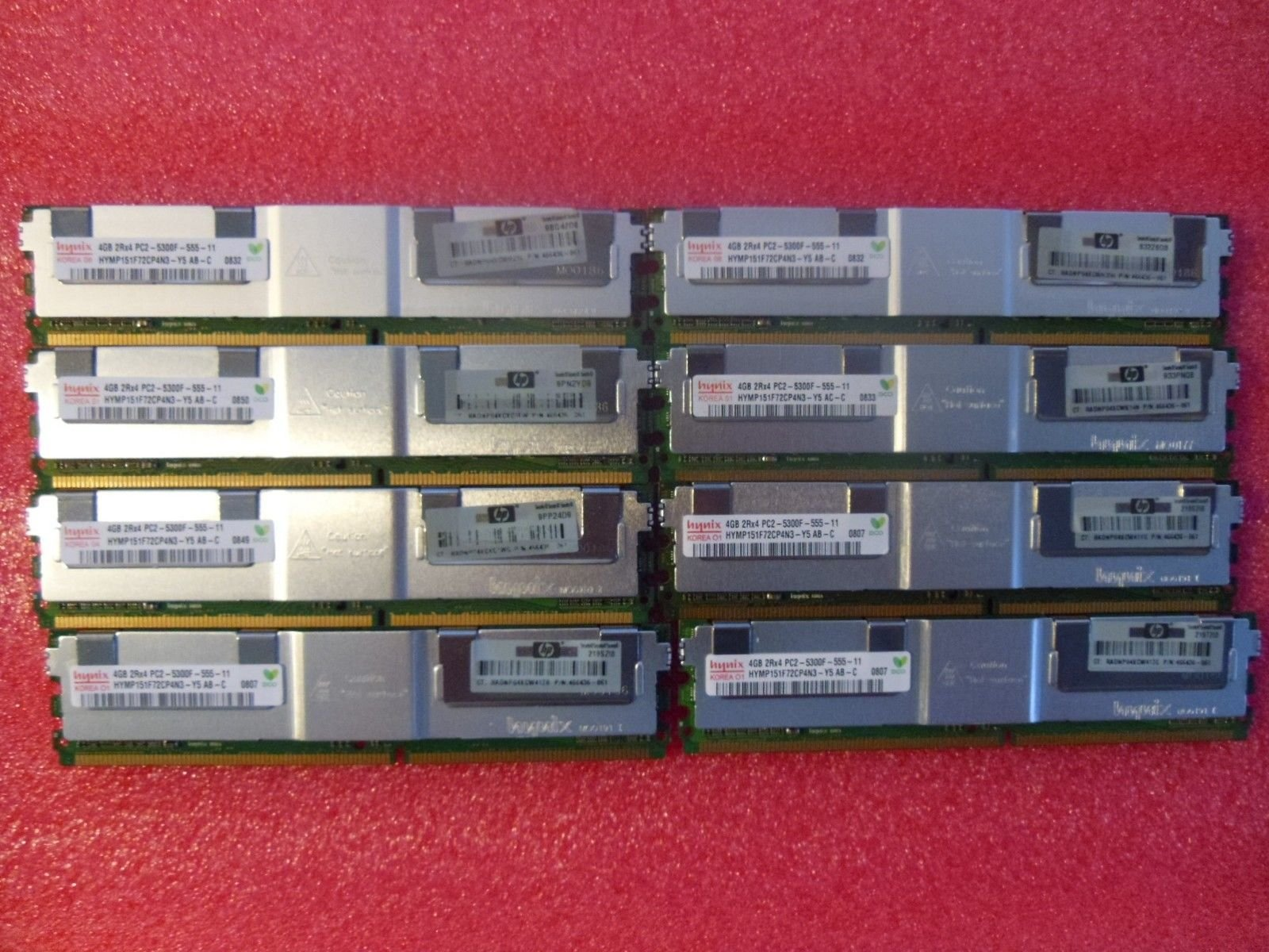 32GB KIT (8 x 4GB) For Dell PowerEdge Series 1900 1950 1950 III 1955 2900 2900 III 2950 2950 III M600 R900. DIMM DDR2 ECC PC2-5300F 667MHz RAM Memory.