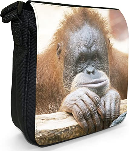 Boys Messenger Bag for School Book Bags Cross body Cute Shoulderbag Orangutan