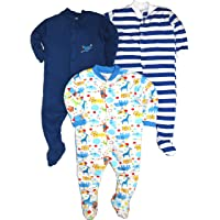 Gopuja New Born Baby Multi-Color Long Sleeve Cotton Sleep Suit Romper for Boys and Girls Set of 3
