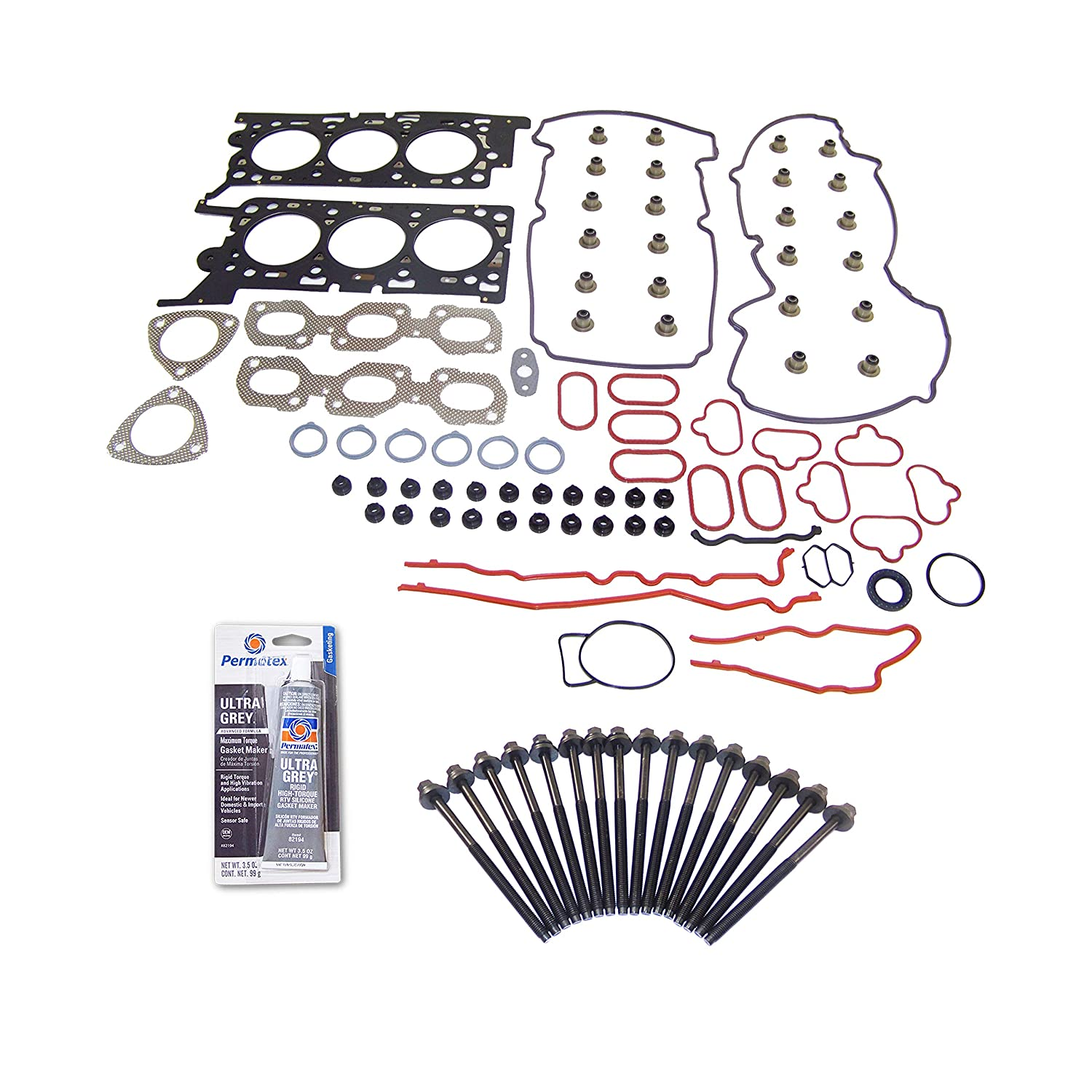 05-06 Ford Escape Mercury Mariner 3.0L V6 24v DURATEC VIN 1 Head Gasket Set Bolt Kit Fits