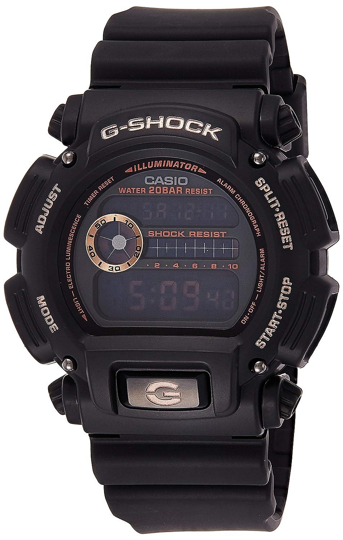 Casio Men's G-Shock DW9052GBX-1A4 Black Resin Quartz Diving Watch