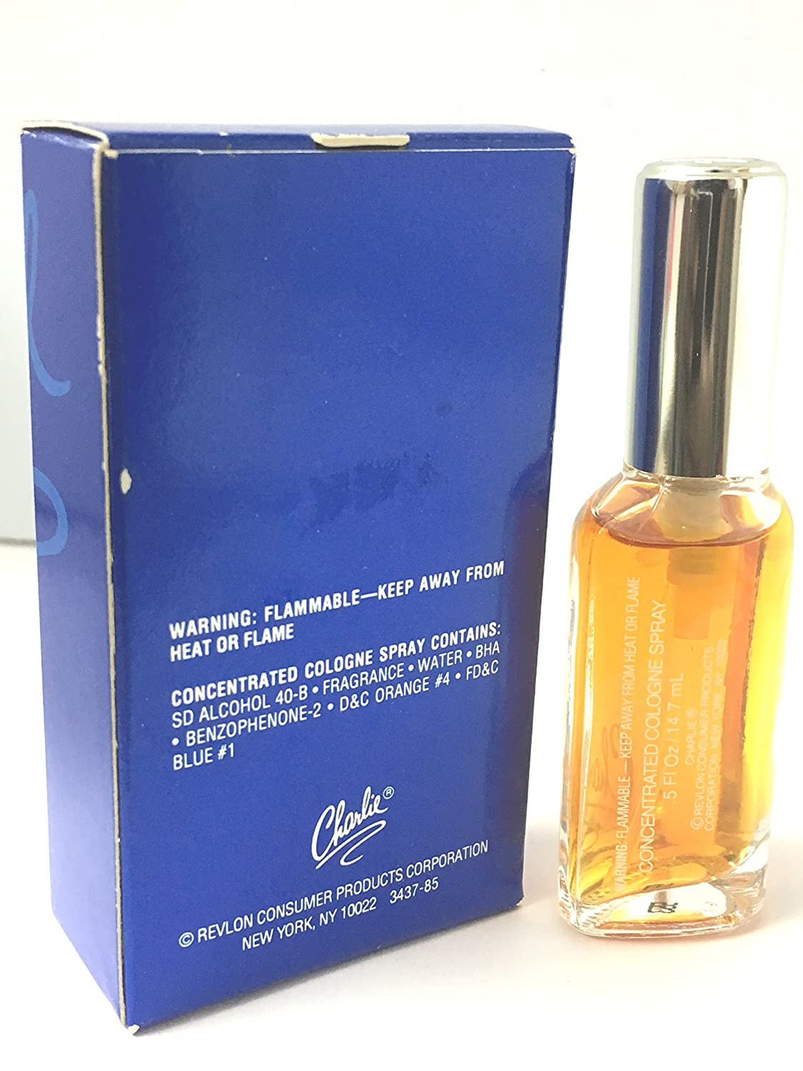 Amazon.com : Charlie Original Cologne Spray .5 Fl Oz Travel Size : Beauty