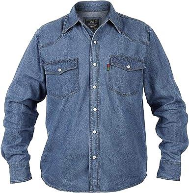Duke - Camisa de Botones Vaquera Modelo Western para Hombre: Amazon.es: Ropa y accesorios