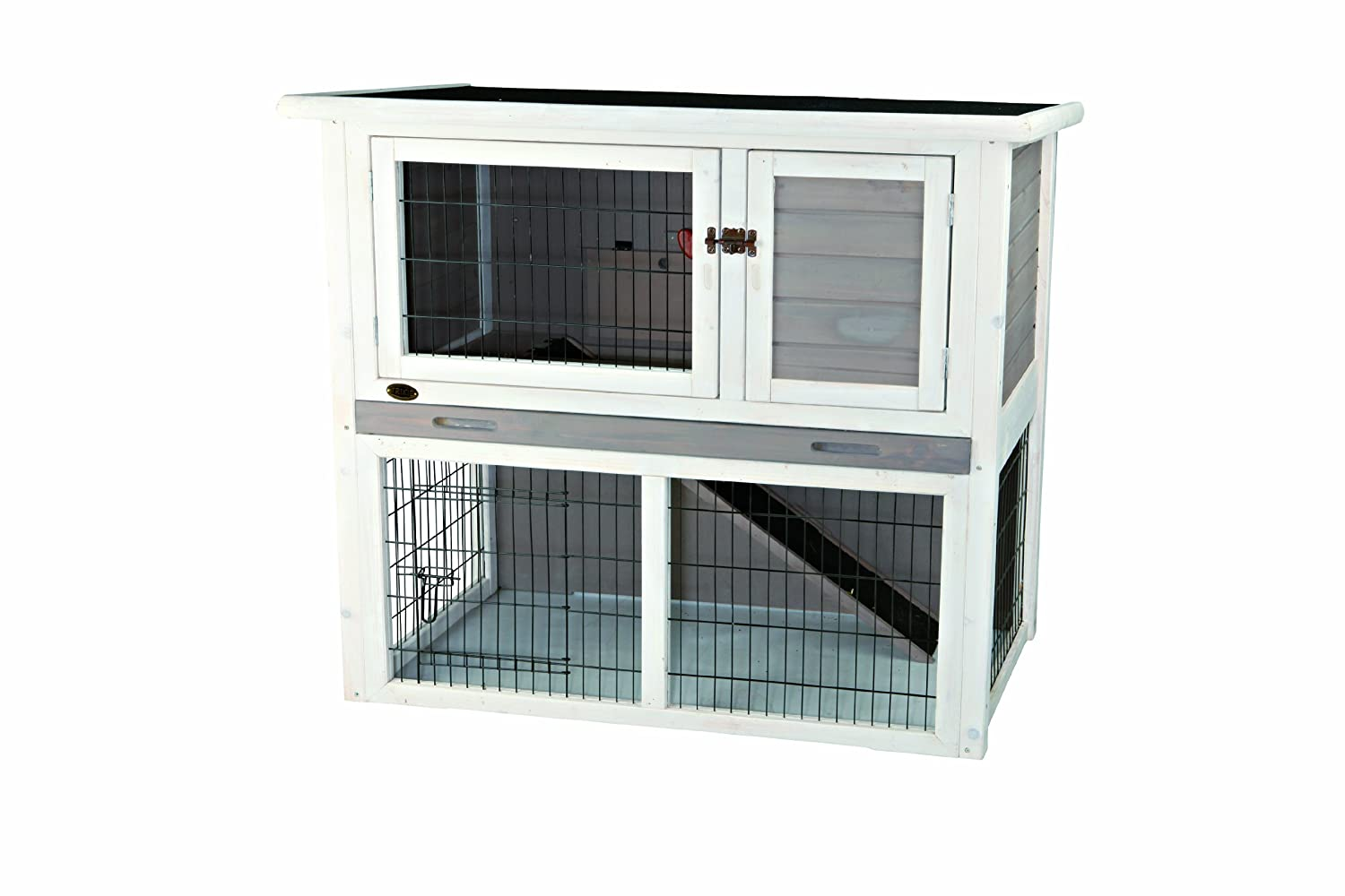 Amazon.com: TRIXIE Pet Products Rabbit Hutch with Sloped Roof (M ...