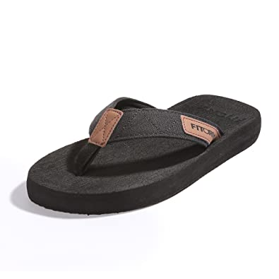 FITORY Men's Flip-Flops Arch Support Thongs Comfort Slippers for Beach Size  ...