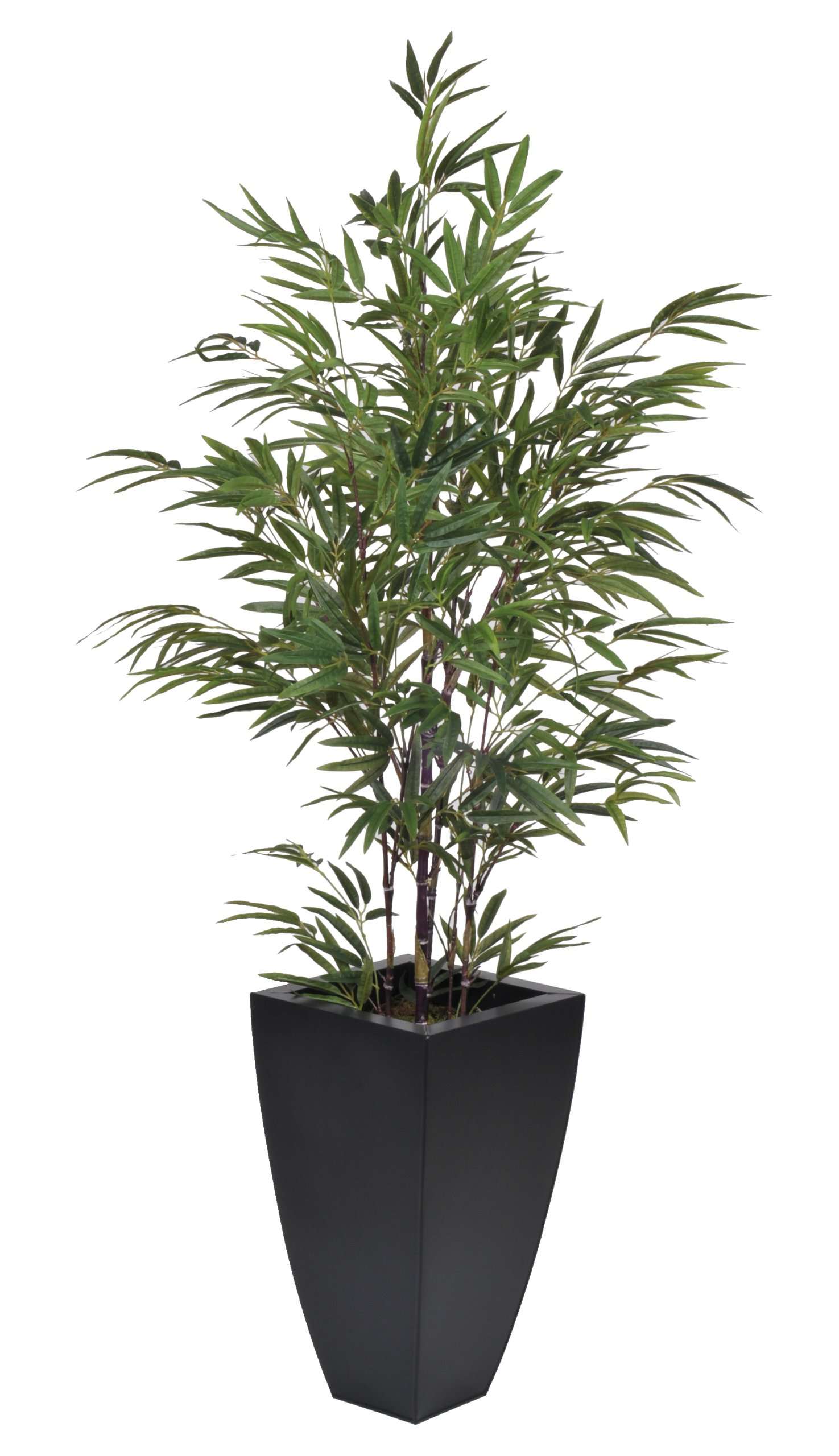 Artificial 5-foot Black Bamboo in Matte Black Zinc by House of Silk Flowers
